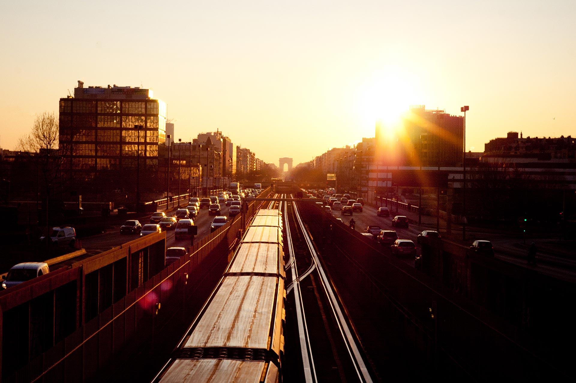 train_sunset