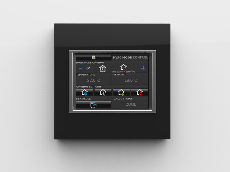 new squared touch panel 3 5 knx eelectron. Black Bedroom Furniture Sets. Home Design Ideas