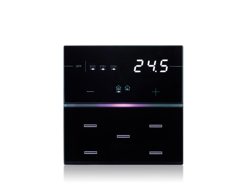 9025 capacitive knx thermostat humidistat eelectron. Black Bedroom Furniture Sets. Home Design Ideas