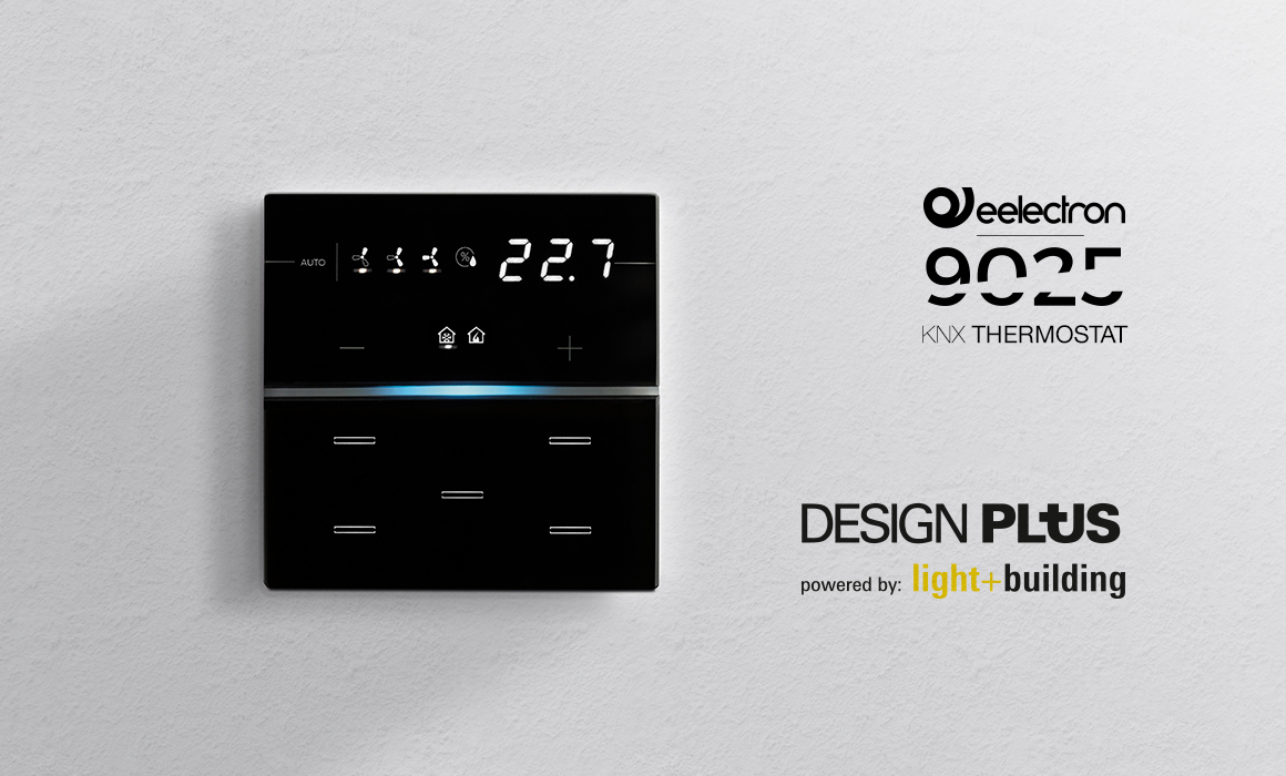 9025 Thermostat won the design plus award
