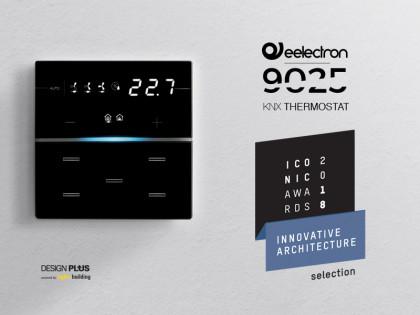 Termostato/umidostato 9025 premiato con ICONIC AWARDS 2018: Innovative Architecture