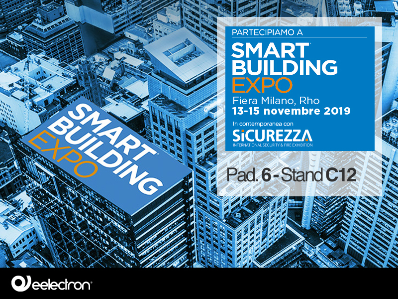 Smart Building Expo – Milan – 13-15 November , 2019